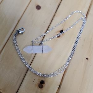 Jewelry - crystal quartz pendant necklace